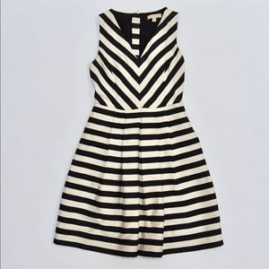 Banana Republic Black White Striped Cocktail Dress